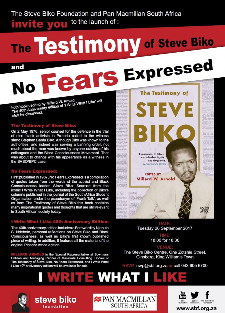Testimony of Biko Book Launch